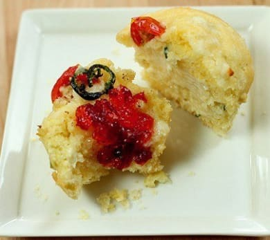 Corn Muffins with Poblano Peppers