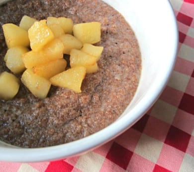 Cinnamon Apple Teff Porridge