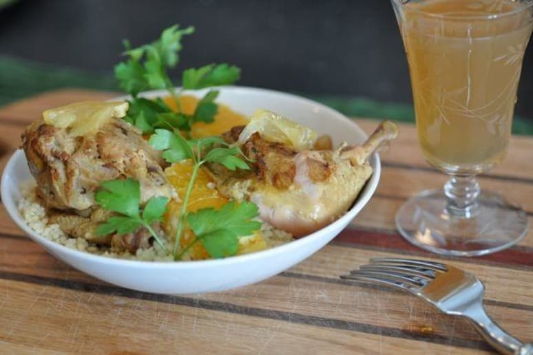 Cornish Hens (Le Petite Poulet) with Preserved Lemons and Orange Blossom Water  Recipe