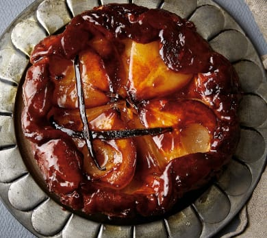 Pear Tarte Tatin With Vanilla Ice Cream
