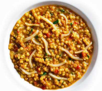 Saffron-Scented Fregola with Marinated Cuttlefish