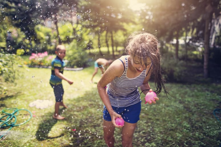 Have a Water Balloon or Water Gun Fight
