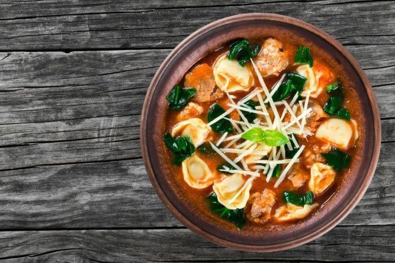 Chicken Cheese Tortellini Soup