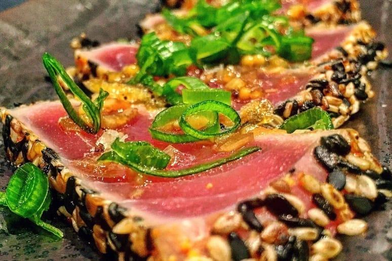 Red Ginger: Tuna Tataki With Sesame Crust