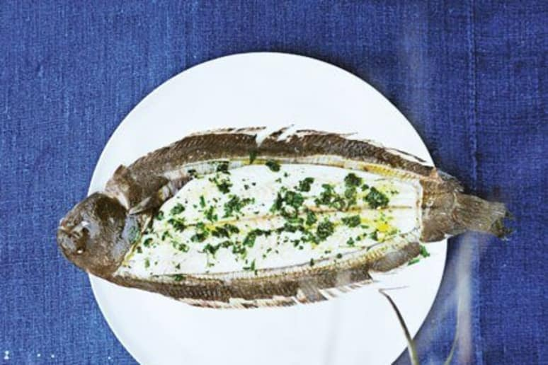 Baked sole