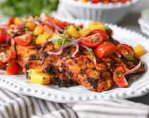 Grilled Curried Chicken Paillard