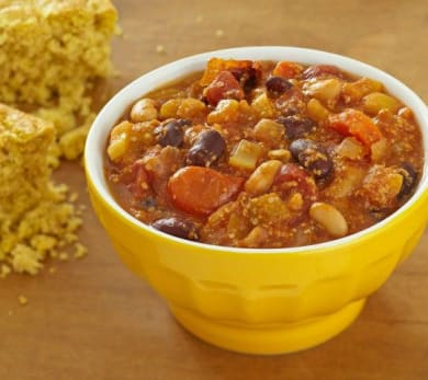 Vegetarian Chili with Wheat Germ