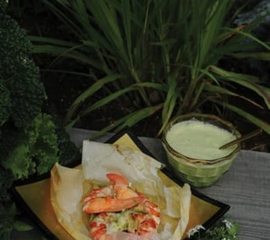 Lobster in a Paper Bag with Green Curry