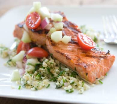 citrus-marinated grilled salmon
