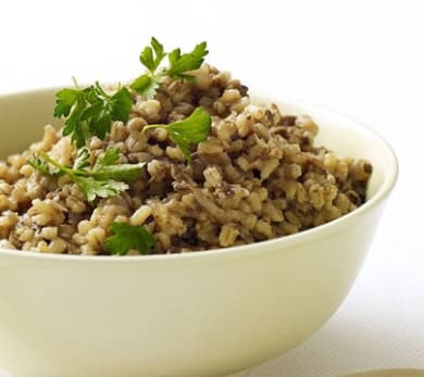 Barley with Mushrooms and Onions
