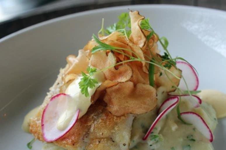 Potato Chip Crusted Flounder
