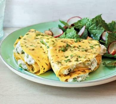 Herbed Egg Crepes