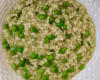 Delcious pea broth risotto