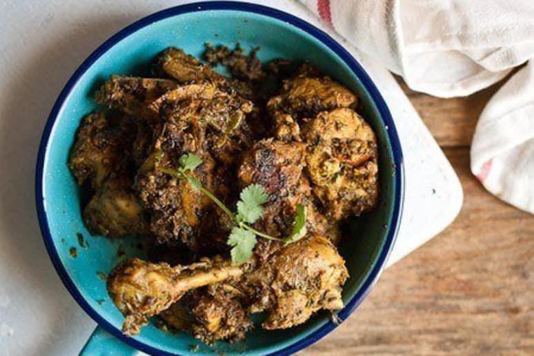 Chicken with Fresh Fenugreek Leaves (Methi Murgh)
