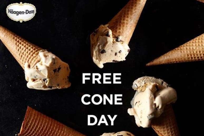 Today is Free Cone Day From Häagen-Dazs