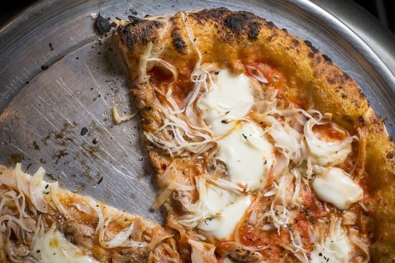 #53 Pizzeria Vetri, Philadelphia, Pa. (Tonno: Sicilian tuna, onion, mozzarella, tomato sauce, peperoncino)