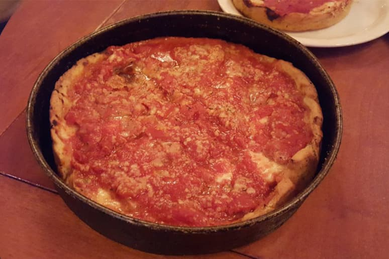#7 Lou Malnati's Pizzeria Chicago, Ill. (Chicago Classic: Deep dish with sausage, crust made with butter, mozzarella)