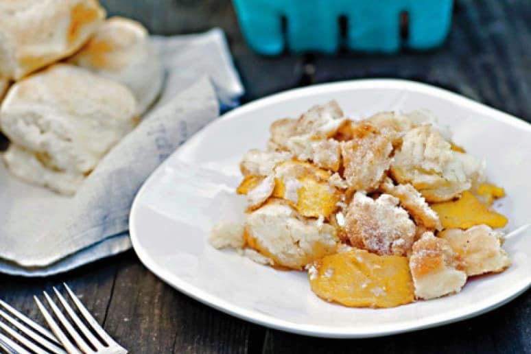 Peach Biscuit Brown Betty