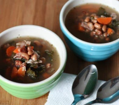 Slow Cooker Ham and Blackeye Pea Soup