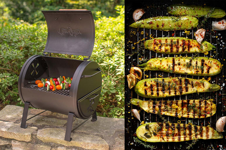 Char-Griller Table Top Charcoal Grill and Side Fire Box, $66.00