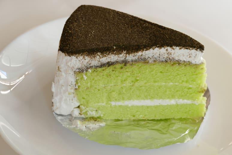 Matcha Cake With Black Sesame Buttercream