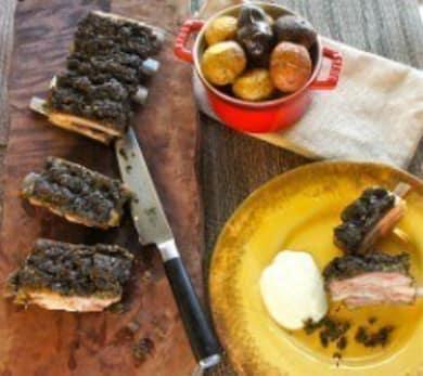 Mint Spiced Lamb Breast with Skordalia Recipe