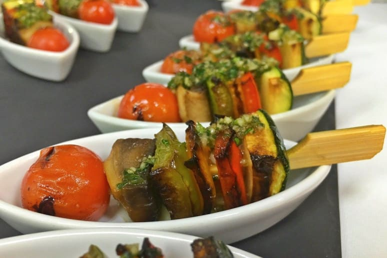 Terrace Café: Grilled Vegetable Kebobs With Chimichurri Sauce