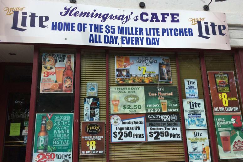 Hemingway's Cafe, University of Pittsburgh, Pittsburgh, Pa.