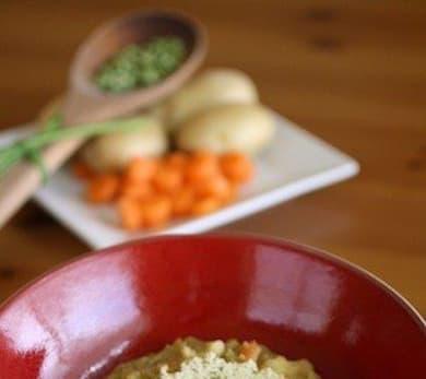 Split Pea Soup with Parmesan-thyme Crisps