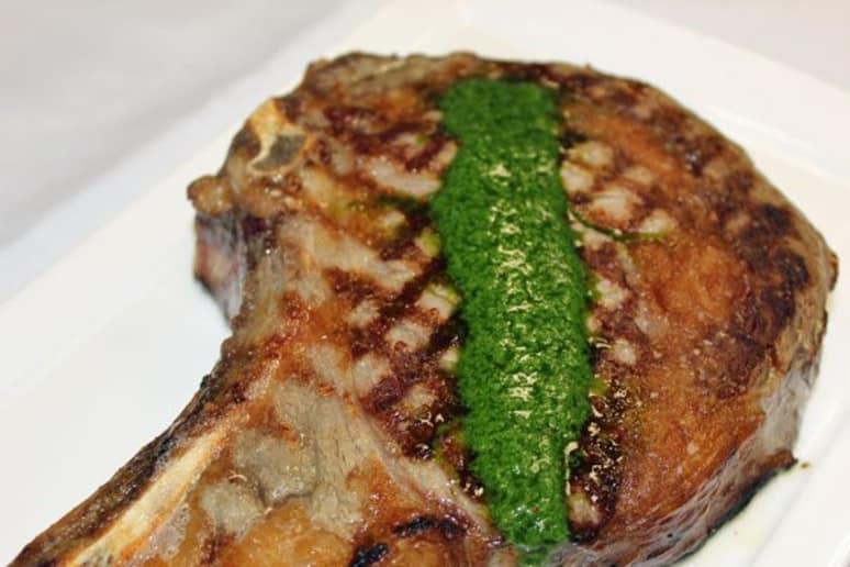 Rib-Eye Steak with Ramp Chimichurri