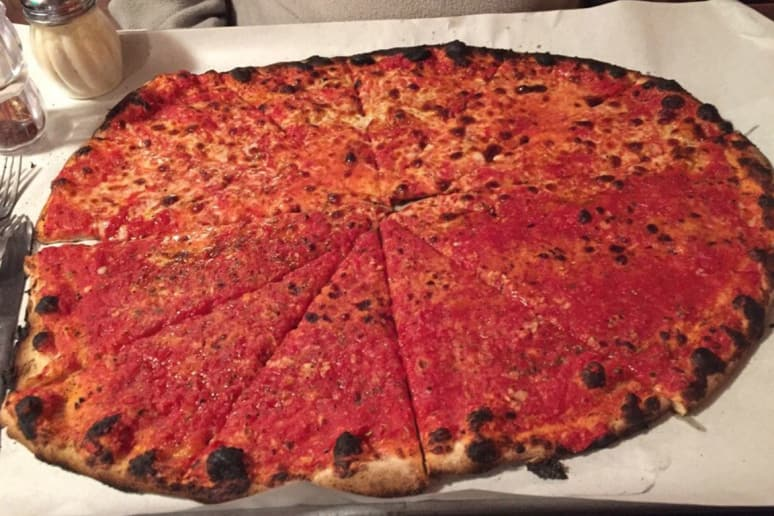 #8 Sally's Apizza, New Haven, Conn. (Tomato Pie: Tomato sauce, no cheese)