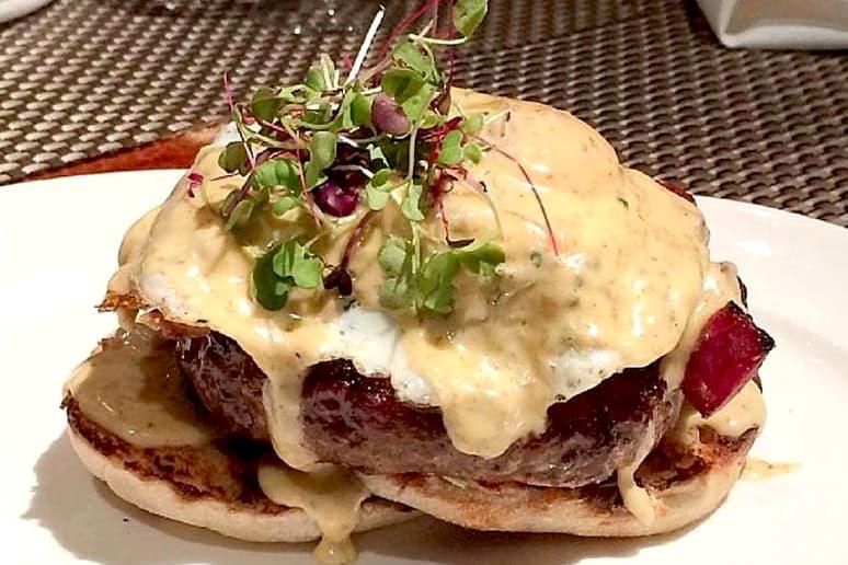 #11 Delmonico's, New York City: Benedict Burger ($36)