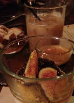 Robiolina Panna Cotta With Honey and Figs Served with Classico Espresso Shot