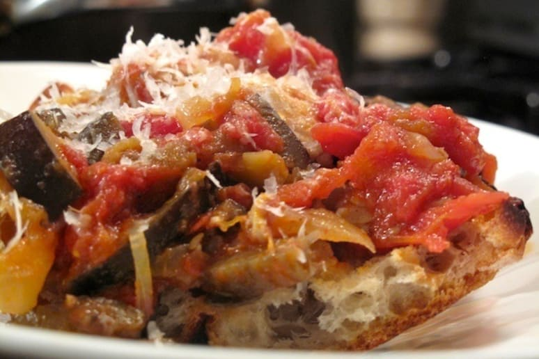 Eggplant and Tomato with Chicken