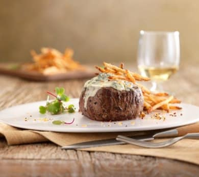 Maytag Bleu Cheese Crusted Filet Mignon