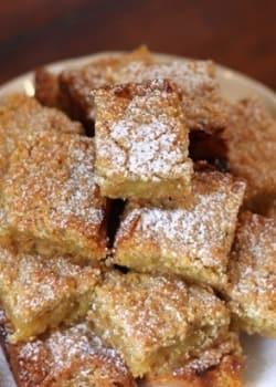Lemon and Almond Shortbread Bars