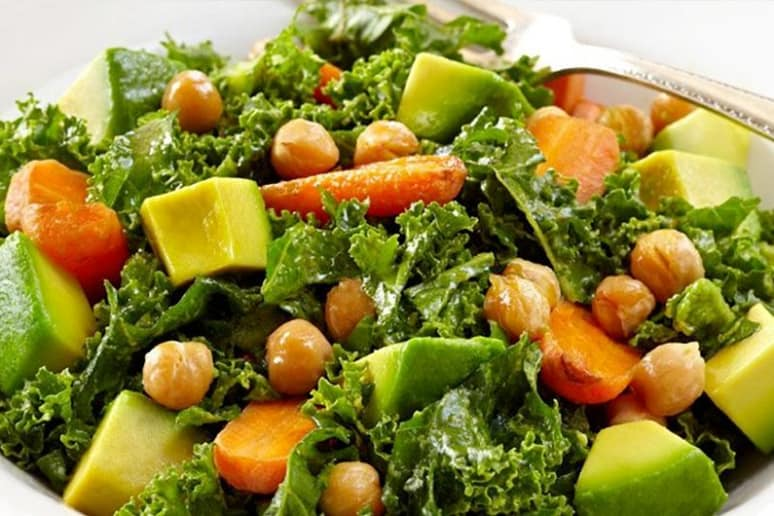 Kale Avocado Salad With Roasted Carrots Recipe