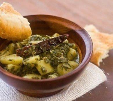 Pudina Aalu/Minty Potatoes