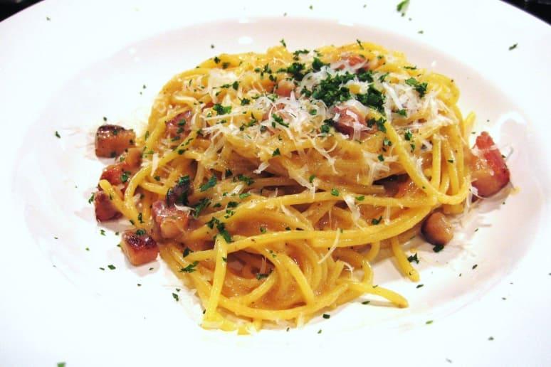 Gluten-Free Pasta all Carbonara
