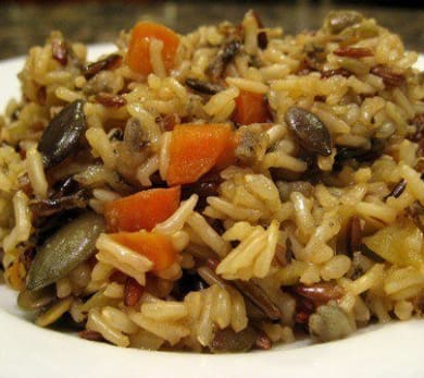 Rice Pilaf with Apples and Pumpkin Seeds