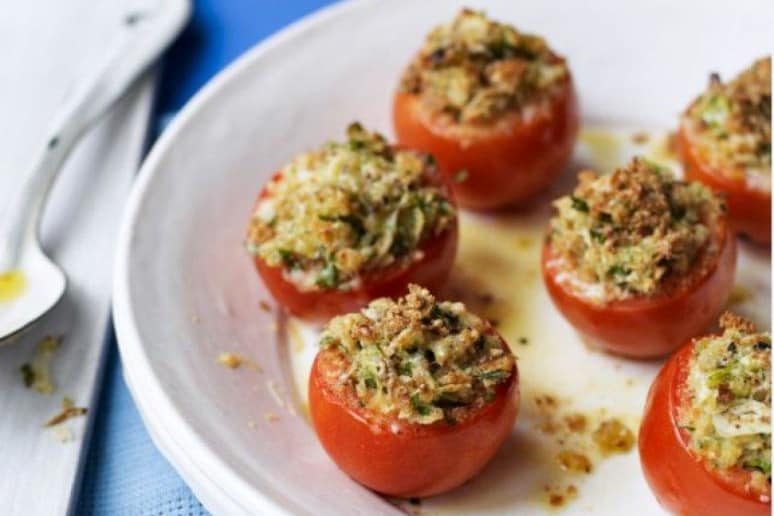 Stuffed Tomatoes With Gruyère