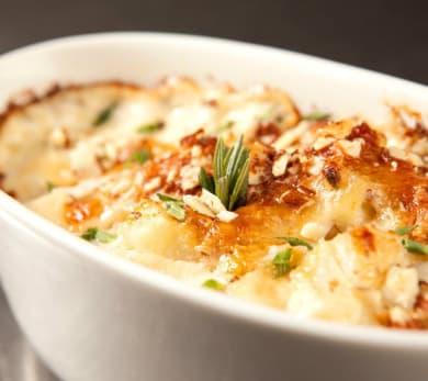 Cheesy Potato Mushroom Gratin