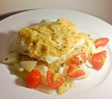 Quinoa Crusted Tilapia