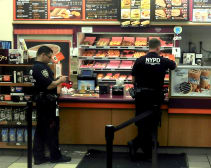 police at Dunkin' Donuts