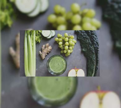 grapes greens juice