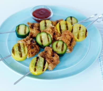 Barbecued Chicken Skewers