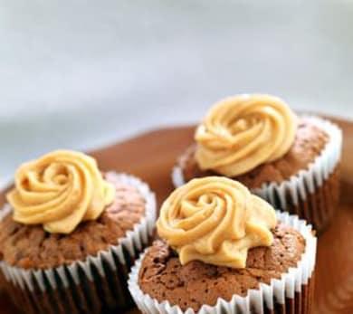 Mocha-Walnut Cupcakes