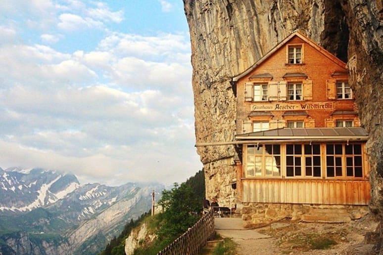 Berggasthaus Äescher-Wildkirchli, Weissbad, Switzerland