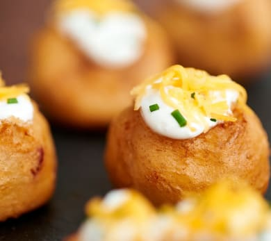 Crispy Cheddar Mashed Potato Puffs