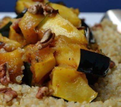 Maple-Roasted Acorn Squash with Quinoa